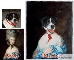Custom oil portrait-Female dog