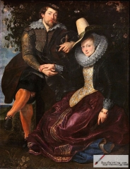 Peter Paul Rubens-The Artist and His First Wife, Isabella Brant, in the Honeysuckle Bower