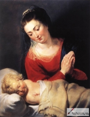 Virgin in Adoration before the Christ Child, c. 1615
