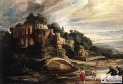 Landscape with the Ruins of Mount Palatine in Rome, 1615