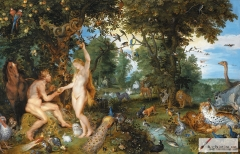 Jan Brueghel the Elder and Peter Paul Rubens, The garden of Eden with the fall of man, Mauritshuis, The Hague
