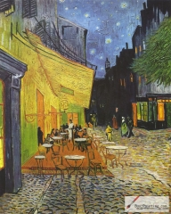 The Café Terrace on the Place du Forum, Arles, at Night, September 1888, Kröller-Müller Museum, Otterlo, The Netherlands