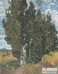 Cypresses with Two Figures, 1889–90, Kröller-Müller Museum