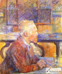 Henri de Toulouse-Lautrec, Portrait of Vincent van Gogh, 1887, pastel drawing,