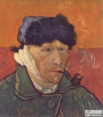 Self-portrait with Bandaged Ear, 1889, private collection