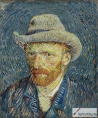Self-Portrait with Grey Felt Hat, Winter, 1887/88