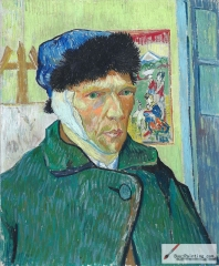 Self-portrait with bandaged ear, 1889, Courtauld Institute of Art