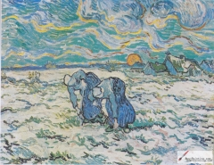Two Peasant Women Digging in a Snow-Covered Field at Sunset, 1890, Foundation E.G. Bührle Collection, Zurich, Switzerland