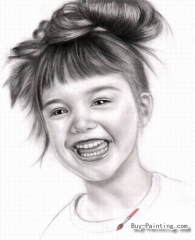 Custom Drawing-Girl laughing