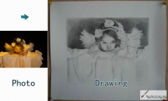Custom Drawing-A girl with wings