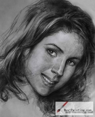 Custom Drawing-Impression style girl