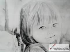 Custom Drawing-Beautiful girl
