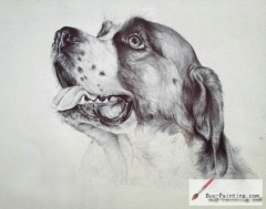 Custom Drawing-A dog with a tongue