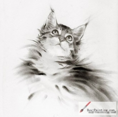 Custom Drawing-Impression of cat