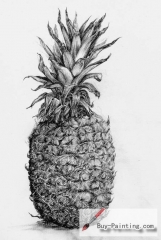 Custom Drawing-Pineapple