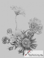 Custom Drawing-Beautiful flowers