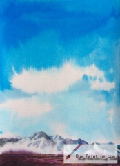 Watercolor painting-Under the blue sky
