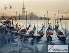 Watercolor painting-Port