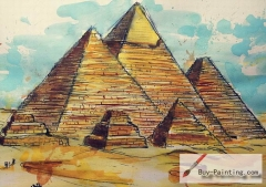 Watercolor painting-Pyramid