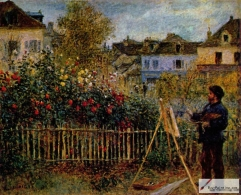 Claude Monet Painting in His Garden at Argenteuil, 1873, Wadsworth Atheneum, Connecticut
