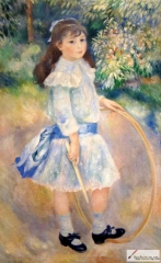Girl With a Hoop, 1885, National Gallery of Art, Washington, D.C.