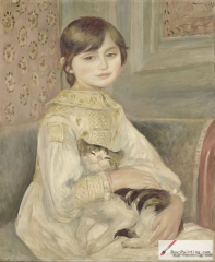 Julie Manet with cat, 1887
