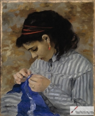 Lise Sewing, 1866, Dallas Museum of Art