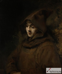 Rembrandt's son Titus, as a monk, 1660