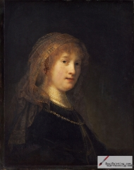 Portrait of Saskia van Uylenburgh, ca. 1635