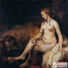 Bathsheba at Her Bath, modeled after Hendrickje, 1654