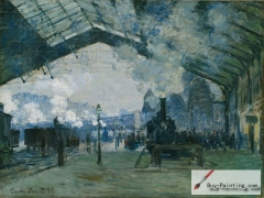 Arrival of the Normandy Train, Gare Saint-Lazare, 1877,