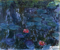 Water Lilies and Reflections (1916–19)
