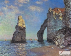 The Cliffs at Etretat, 1885,