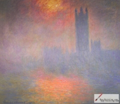 London, Houses of Parliament. The Sun Shining through the Fog, 1904,