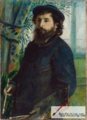 Pierre-Auguste Renoir, Portrait of Claude Monet, 1875,