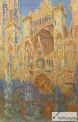 Rouen Cathedral at sunset, 1893,