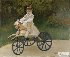 Jean Monet on his hobby horse, 1872,