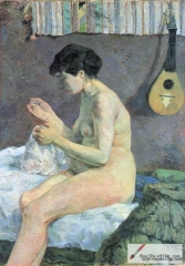 Study of a Nude (Suzanne sewing), 1880,