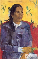 Vahine no te tiare (Woman with a Flower), 1891,
