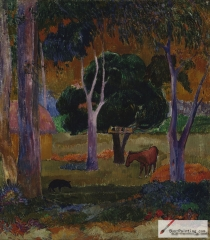Landscape with a Pig and a Horse (Hiva Oa), 1903,