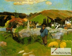 The Swineherd, Brittany (1888)