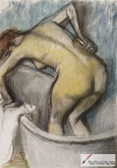 The Bath: Woman Supporting her Back, c. 1887,