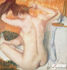 La Toilette (Woman Combing Her Hair), c. 1884–1886,