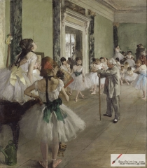 The Dance Class (La Classe de Danse), 1873–1876,