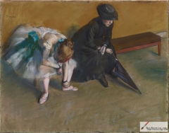 Waiting, pastel on paper, 1880-82.