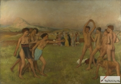 Young Spartans Exercising, c. 1860–62,