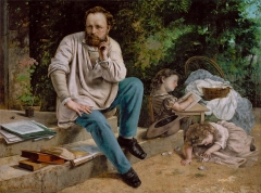 Proudhon and his children, 1865
