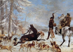 The kill of deer, 1867