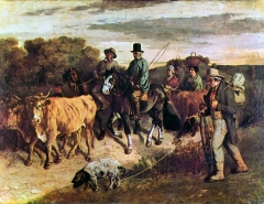 Farmers of Flagey on the Return From the Market, 1850