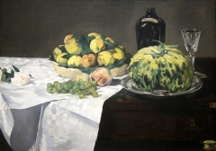 Still Life with Melon and Peaches, 1866